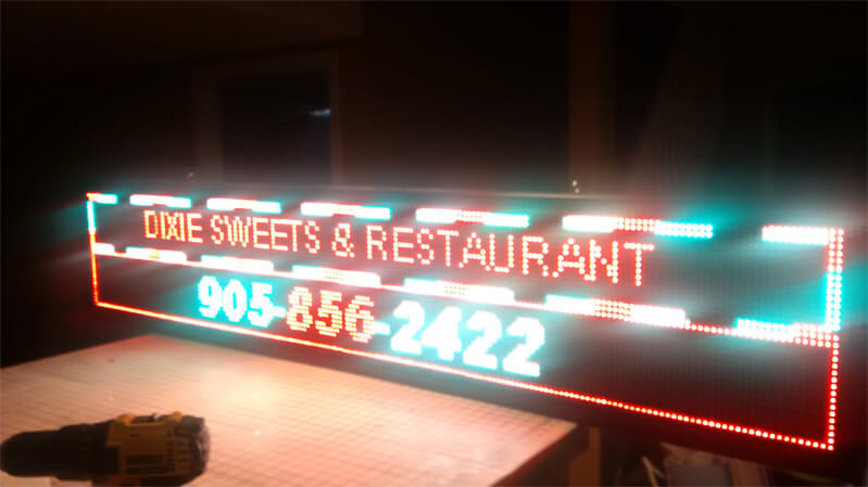 Indoor and Outdoor LED Signs Brampton, Mississauga & Toronto