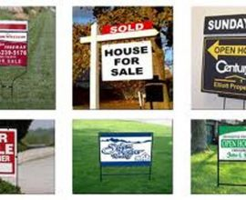 REAL ESTATE SIGNS 1